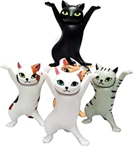 Auralto 5 pcs cat Decorations for The Home and Office Toys ,Also applies to Office Desk Accessories ,Cat Figurines,Blindbox , Cat Christmas Ornaments and Cake Topper
