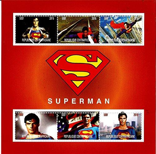 Collezione francobolli–Superman Marvel DC Comics Movie Mnh stamp Minifoglio 2016