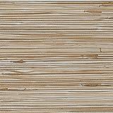 Patton Wallcoverings new488-440 Grasscloth Wallpaper, Silver Beige Tan Wood Brown