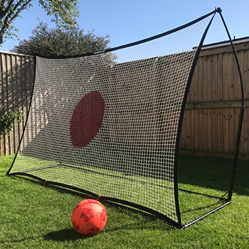 QUICKPLAY Spot Target Soccer Rebounder | Perfect for Team or Solo Soccer Training | Features Free Training App (ii) 8x5'
