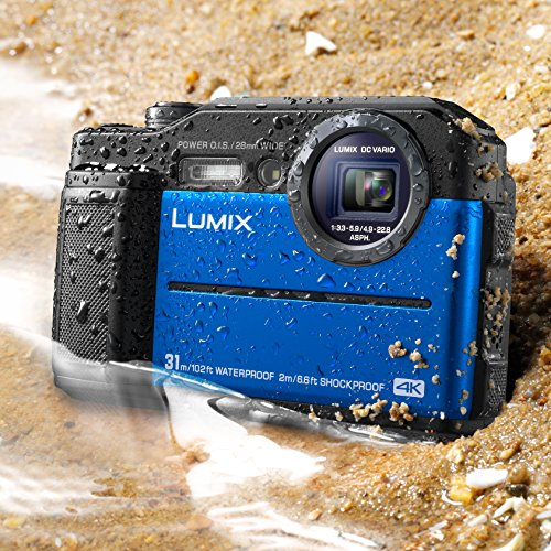 Panasonic DC-TS7A Lumix TS7 Waterproof Tough Camera, 20.4 Megapixels, 4.6X Zoom Lens, USA, with 3' LCD, Blue