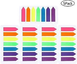 Yowanted 4/set colorato segnalibro colorati pop-up divisori bandiere Sticky notes per segnalibri 400/pezzi 4 Sets