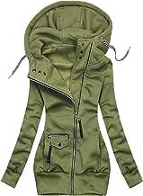 $29 » Letdown Accessories Women Waterproof Jacket Drawstring Hooded Winter Slim Fit Jackets Full Zip Insulated Fleece Parka Soli...
