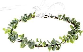 June Bloomy Greenery Leaf Crown Rustic Wedding Headpiece Bridal Headband Photo Prop