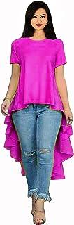 Lakkar Haveli Women's Long Dress Front Cut Tunic Indian Frock Suit Ethnic Maxi Dress Pink