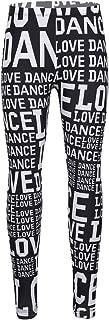 Kids' Girls' Dance Lover Slim Fit Stretchy Athletic Running Sports Leggings Activewear