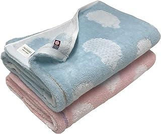 今治タオル ブランド認定 ハリネズミ柄 バスタオル 2枚組 60x120cm (ブルー1枚ピンク1枚)