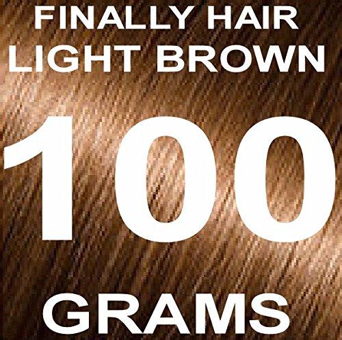 Finally Hair Building Fiber Refill 100 Grams Light Brown Hair Loss Concealer by Finally Hair (Light Brown)
