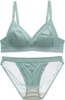 Care Gathered Sexy Bra Set Bud Seamless French Triangle Cup, Sponge, no Steel Ring, Adjustable Chest Type, Four Rows and T...