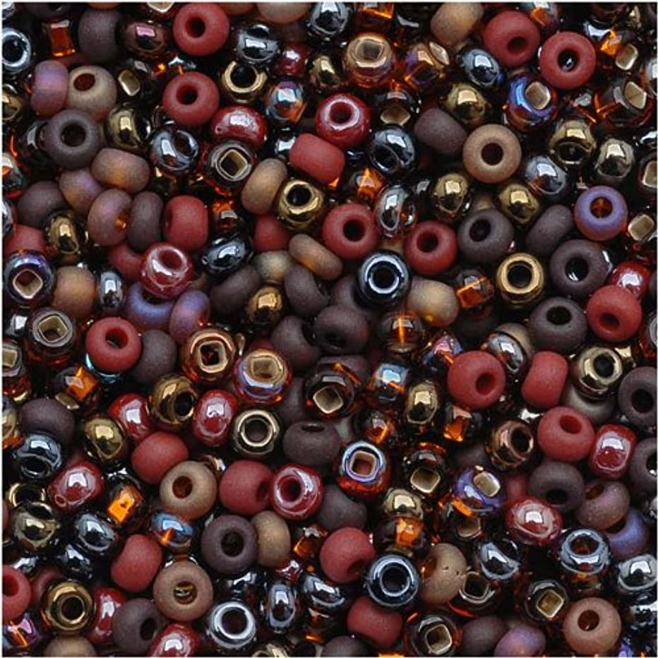 Jablonex Czech Seed Beads Mix, 1-Ounce, Size 8/0, Chocolate Mud Pie Brown
