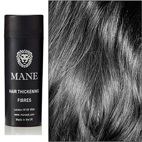 Jet Black Mane Hair Thickening Fibres- direct from the UK Manufacturer - 11 shades available