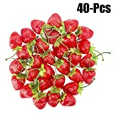 Outgeek 40PCS Artificiale Fragole Realistico Frutta Finta Frutta Decorativa Per Il Partito S