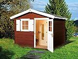 Außenmaß Haus (BxT): 300 x 280 cm Außenmaß Sauna (BxT): 194 x 144 cm Grundfläche: 6,25 m² Wandstä Das exklusive Saunahaus verleiht Ihnen erholsame Wellnessstunden an der frischen Luft. Eine Wohlfühl Sockelmaß: 250 x 250 cm