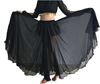 Women's Belly Dance Skirt Tribal Chiffon Full Skirt
