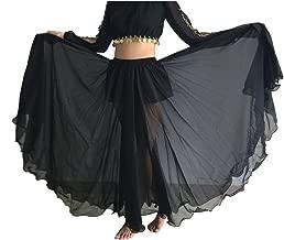 Wuchieal Women's Belly Dance Skirt Tribal Chiffon Full Skirt