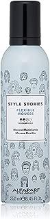 Alfaparf Milano Style Stories Flexible Mousse Medium Hold Premium Hair Styling Product, 8.45 Fl Oz