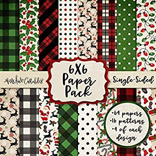 6X6 Pattern Paper Pack - Merry Christmas - Card Making Scrapbook Specialty Paper Single-Sided 6