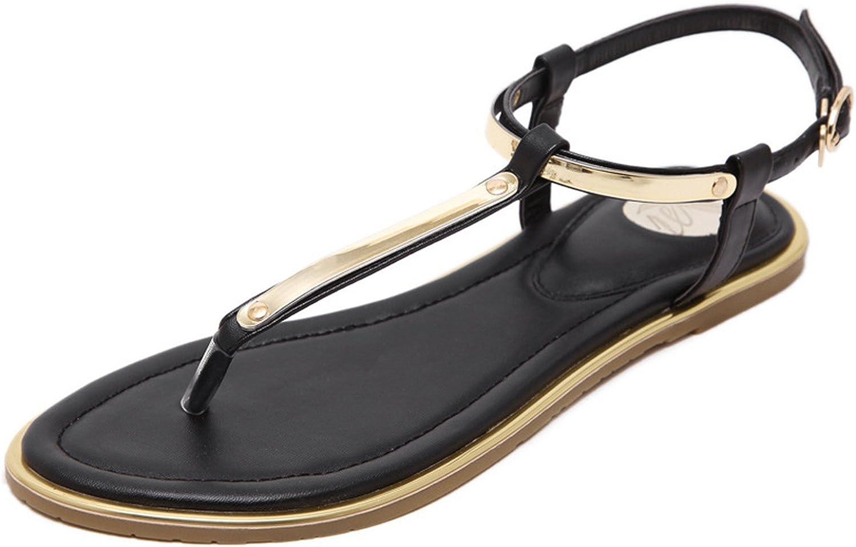 Spyman New Plus Size 35-43 Brand Summer Sandals Women Flat shoes Female Simple Flat Flip Toe Metal Sequins Decoration Women shoes