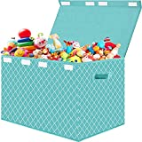 Kids Toy Boxes Storage with Flip-Top Lid - Collapsible Kids Toys Chest Organizer Bins with Handles for Nursery,Playroom,Closet Home Organization 25