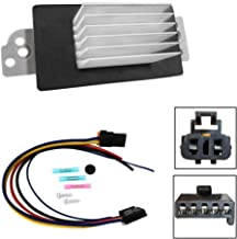 Blower Motor Resistor Complete Kit with Harness for Chevy Silverado Tahoe Avalanch Suburban GMC Sierra Envoy Yukon XL - AC Heater Control Module Replaces 1581773 89018778,89019351,15-81773