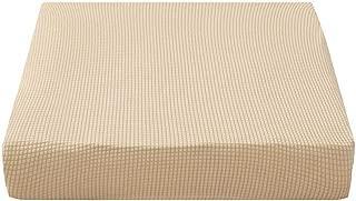 Prosperveil - Fundas elásticas para Asientos de sofá de poliéster y Elastano, Fundas de cojín para sillas de futón, Fundas de cojín para sofá y Fundas Protectoras, Crema, Chair