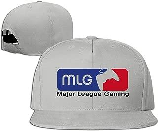Man & Women Major League Gaming MLG Esports Logo Flat Bill Hat Ash