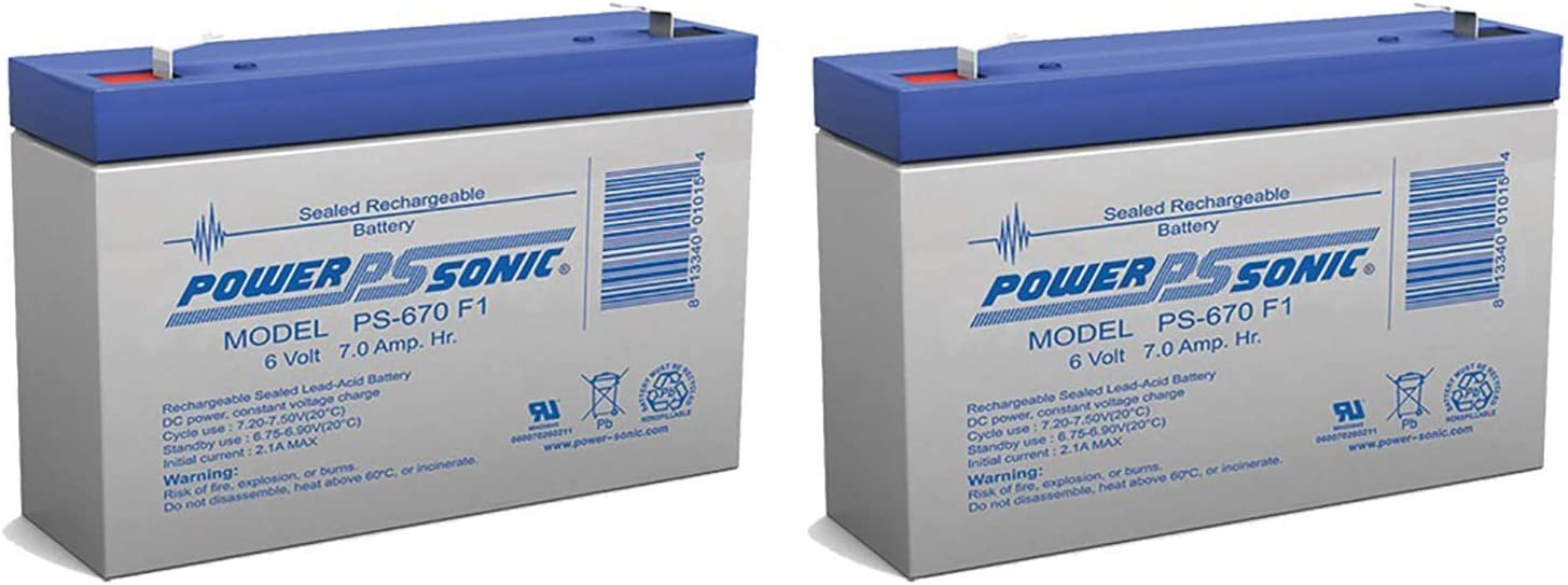 Animer and price revision Power Sonic 6V 7Ah SLA Battery for Wildfire Avigo Special price a limited time Replacement Qu