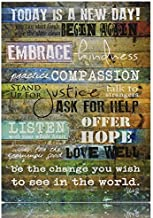 Creative Products Today is a New Day Wood Wall Art Print by Marla Rae 16 x 12