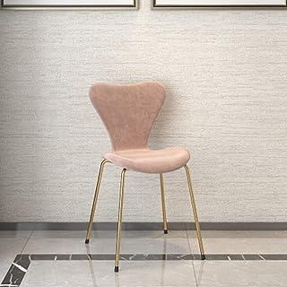 QFWM Sillas de Comedor Inicio Moda Silla de Comedor Simple Respaldo Silla de Comedor for Sala de Estar y Comedor Cocina Comedor Muebles (Color : Pink, Size : 46x37x80cm)
