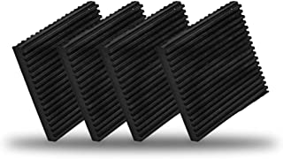 LBG Products Rubber Anti-Vibration Isolation Pads,Heavy Duty All Rubber Vibration Pad Mats for Air Conditioner,Compressors,HVAC,Treadmills etc (4'' X 4''X 3/8'')
