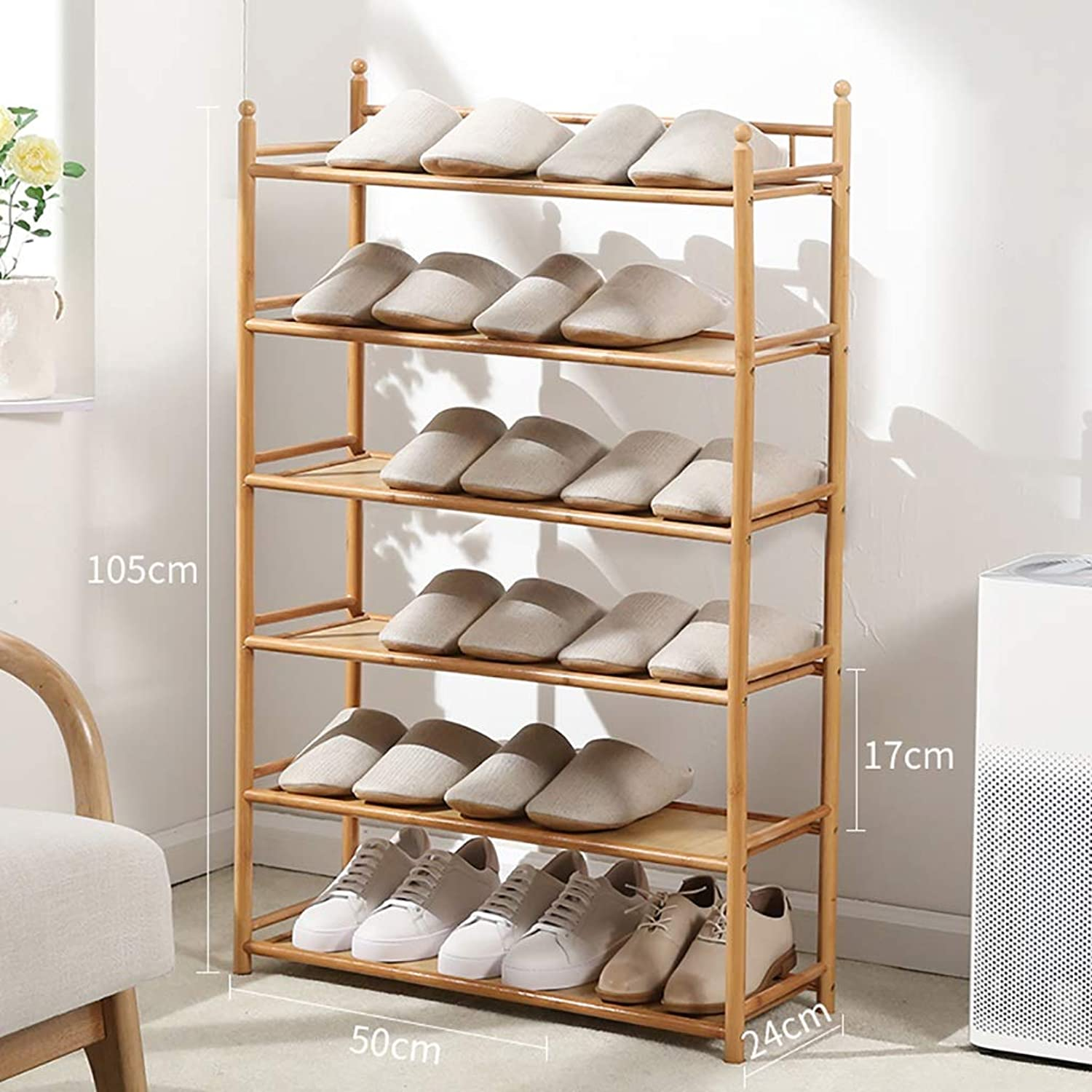 3 4 5 6-layer shoes Rack Shelf Flower Stand Bookshelf Storage Shelf shoes Cabinet Multifunction Household Doorway Entrance Space Saving (Size   50  24  105CM)