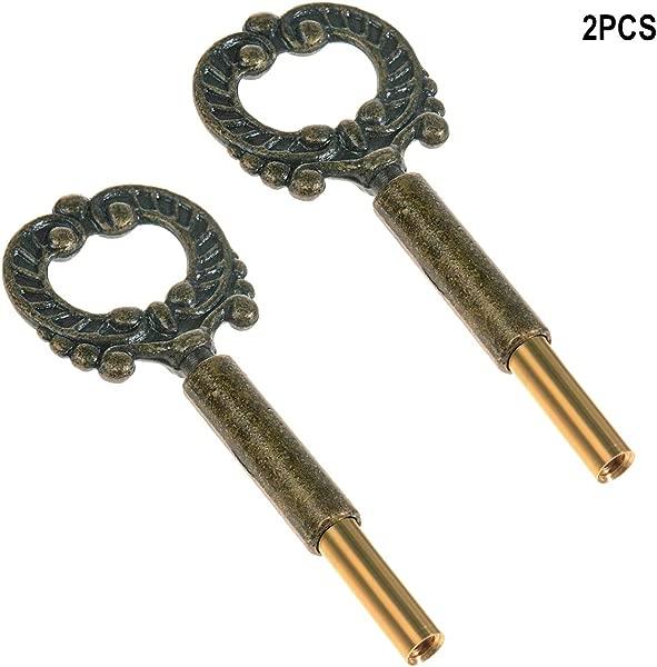 ECUDIS Pack Of 2 Lamp Keys Socket Turn Keys Replacement Switch Knobs Brass Finish