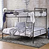 BOWERY HILL Full Over Queen Bunk Bed in Antique Black