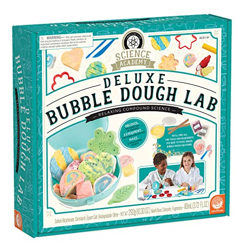 MindWare Science Academy Deluxe Bubble Dough Lab – Kids & Teens Create 5 Kinds of Bubble Dough with 36pc kit...