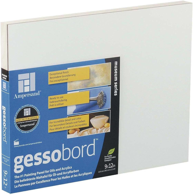 Ampersand Gessobord Cradled 7 8  12x16