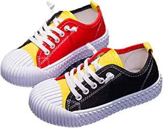 Hopscotch Boys and Girls Cloth Lace Up Sneakers - Yellow