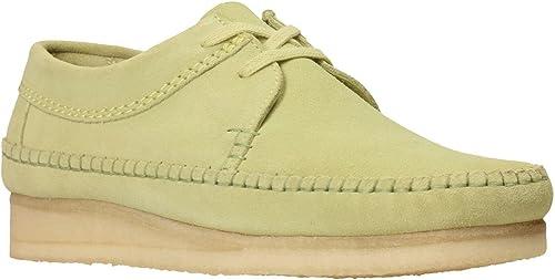 Clarks - Pour des hommes Weaver chaussures, Taille  13 13 D(M) US, Couleur  Sage Suede  abordable