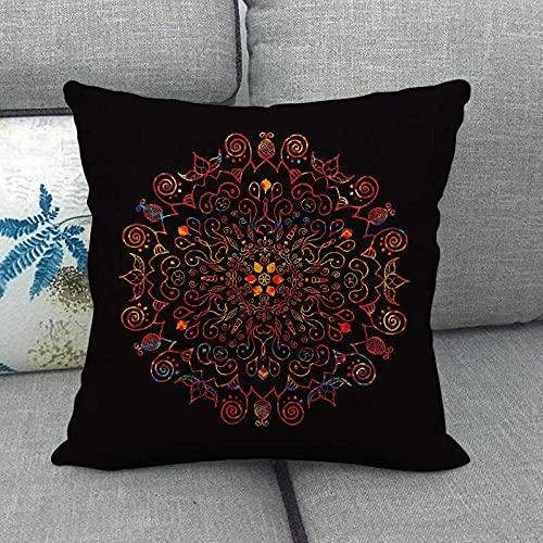 Almohada de Lino para sofá con patrón geométrico, Funda de cojín para Coche, cojín para Ventana salediza, Lata de Dibujo 1063-10_45 * 45cm