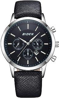 Yuanhua Male Watch, 3 Colors Man Fashion Calendar Waterproof Quartz Movement Wrist Watch Adjustable PU Leather Watch Band