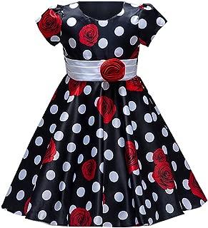 Áo quần dành cho bé gái – Summer Flower Girl Dress Toddler Girls Dresses for Kids 2-8 Years