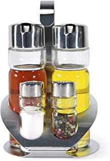 REYOK Pepe e Sale Mill Grinder Set,Sale e Pepe Regolabile con ruvidit/à in Ceramica Regolabile Shaker Spice Container Condiment Jar Holder Grinding Bottle Kitchen Tools