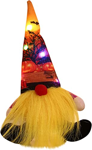 lowest SegkopuoL Halloween Glowing Dwarf discount Faceless Doll: Standing Rudolph Doll Plush Gnome Doll for Halloween Home Decorations (Yellow new arrival Beard) online sale