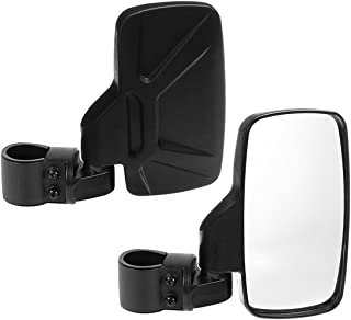 """SPAUTO UTV Side View Mirrors (Pack of 2) For 1.6"""" - 2inch Roll Cage Bar, Universal Offroad Rear View Side Mirror for UTV High Impact Shatter-Proof Tempered Glass(Fits Driver and Passenger Side)"""