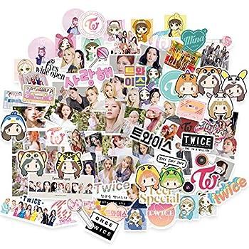 Twice Sticker 82Pcs Cartoon Sticker Pack Eyes Wide Open New Album Sticker Pack Vinyl Sticker for Laptop sticker
