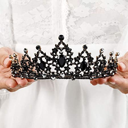 Punk Rock tiara Noir goth steampunk tiara made with black Clock hands perfect for the gothic bride