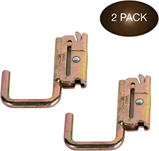 Best DC Cargo Mall 2 E-Track Steel J-Hooks, Tie-Down Accessories w/E-Track Spring Fitting Attachments, 2 Inch Wide J-Hooks, Use as Hanger, Shelf Bracket, Support Beams, Trailer, Truck, Pickup, Cargo Van Review