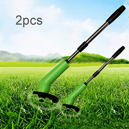 Fantastic Prices! WE&ZHE 2Pcs Handheld Cordless Weed Trimmer Telescopic,Zip Trimmer Electric Lawn Mo...