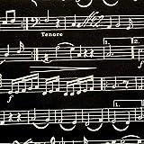 Werthers Stoffe Stoff Meterware Baumwolle Musik schwarz