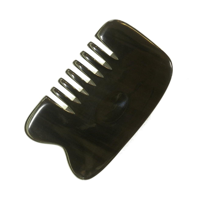 ウィスキー四分円剃るかっさ プレート 厚さが選べる 水牛の角(黒水牛角) EHE221SP 櫛型 特級品 標準(6ミリ程度)
