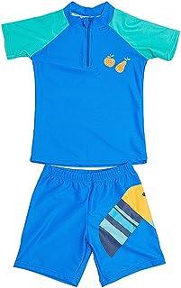 (ビメイゴー) Bmeigo 子供 キッズ 水着 セパレート 女の子 男の子 半袖トップス ハーフパンツ 上下セット 夏 通気 動物柄 スイミングウェア スイムウェア 水泳 柔らかい 快適 可愛い 全4タイプ